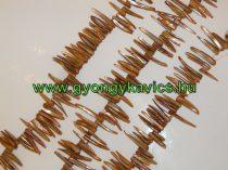 """Narancssárga Kagyló """"Cápafog"""" Gyöngy Gyöngyfüzér 2-4cm x 4-8mm"""
