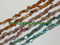 Narancssárga Kagyló Gyöngy Gyöngyfüzér 8x8x5mm