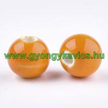 Narancssárga Porcelán Gyöngy 10mm