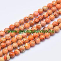 Narancssárga Tengeri Jáspis Regalit Ásványgyöngy Gyöngyfüzér 6mm