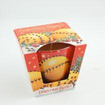 Narancs Szegfűszeg Karácsonyi Poharas Illatgyertya
