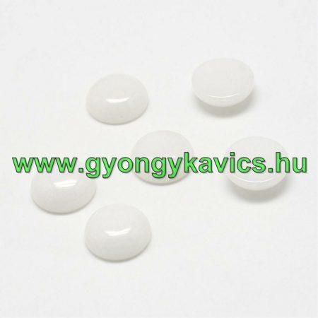 Natur Fehér Jade Kaboson 8mm