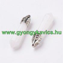 Natur Fehér Jade Medál 33-40x8-9mm