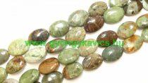 Ovális Zöld Opál Ásványgyöngy 17,5-19x13,5-14x6-7mm