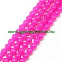 Pink Rózsaszín Üveggyöngy Gyöngyfüzér 8mm