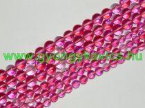 Pink Rózsaszín Szintetikus Holdkő Gyöngyfüzér 6mm