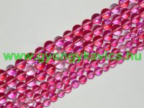 Pink Rózsaszín Szintetikus Holdkő Gyöngyfüzér 8mm