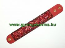 Piros Ásvány Karkötő Vörös