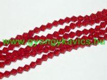Piros Bicon Üveggyöngy 6mm