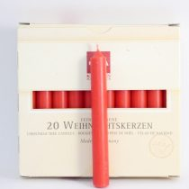 Piros Egyenes Karácsonyi Gyertya 1,25x11cm (20db)