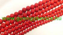 Piros Festett Lávakő Ásványgyöngy 10mm