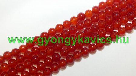 Piros Jade Ásványgyöngy  10mm