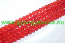 Piros Jade Ásványgyöngy 6mm