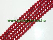 Vörös Piros Kagyló Gyöngy 6mm