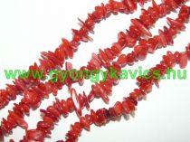 Piros Kagyló Törmelék Gyöngy Gyöngyfüzér 6-15x3-7x1-3mm 75-80cm
