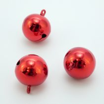 Piros Karácsonyi Csengő 25mm