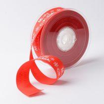 Piros Karácsonyi Merry Christmas Szalag 25mm 1m