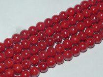 Piros Kerámia Gyöngy Gyöngyfüzér 8,5mm