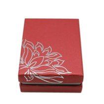Halvány Piros Lótusz Virág Díszdoboz Ékszerdoboz Ajándékdoboz 9x7x3cm