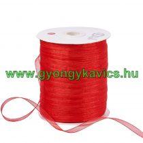 Piros (7) Organza Szalag 6mm 1m