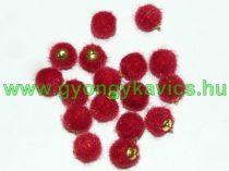 Piros Pom Pom 12mm