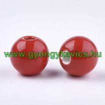 Piros Porcelán Gyöngy 10mm