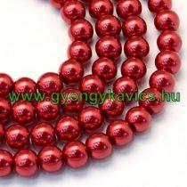 Piros Szintetikus Kagyló Gyöngy 8mm
