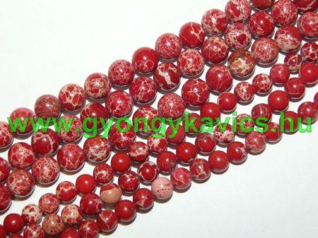 Piros Tengeri Jáspis Ásványgyöngy  10mm
