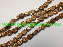 Réz Hematit Buddha Ásványgyöngy Gyöngyfüzér 8x7x4mm
