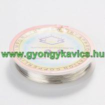 Réz Fűzőszál Rézhuzal Ezüst (1-es szín) 0.8mm 4m