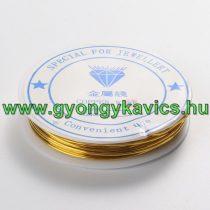 Réz Fűzőszál Rézhuzal Arany (2-es szín) 0.8mm 4m