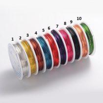 Réz Fűzőszál Rézhuzal Narancssárga (5-ös szín) 0.8mm 4m