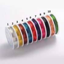 Réz Fűzőszál Rézhuzal Rózsaarany (9-es szín) 0.8mm 4m
