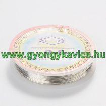 Réz Fűzőszál Rézhuzal Ezüst (1-es szín) 0.6mm 6m