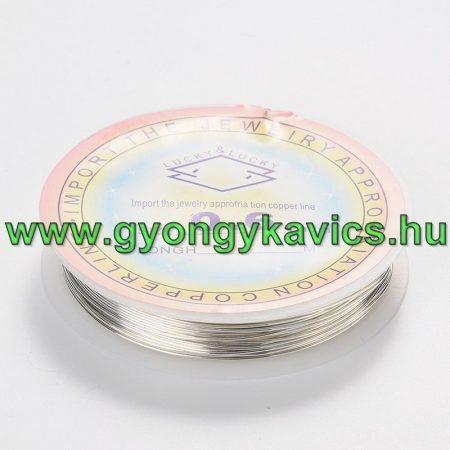 Réz Fűzőszál Rézhuzal Ezüst 1.0mm 2,5m