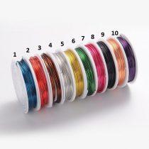Réz Fűzőszál Rézhuzal Fekete (8-as szín) 1.0mm 2,5m