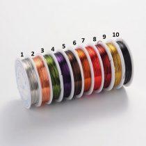 Réz Fűzőszál Rézhuzal Sötét Vörös (8-as szín) 0.6mm 6m