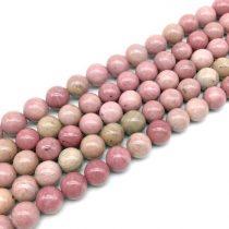 Rodonit Rodokrozit (színes) Ásványgyöngy 10mm