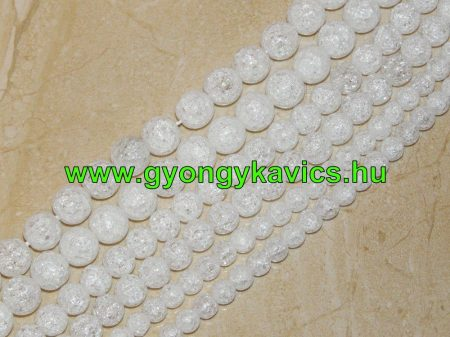 Roppantott Hegyikristály Másolat Üveggyöngy 12mm