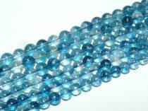 Roppantott kék Hegyikristály Ásványgyöngy Gyöngyfüzér 10mm