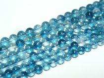 Roppantott kék Hegyikristály Ásványgyöngy Gyöngyfüzér 8mm