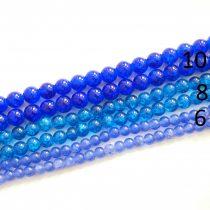 Roppantott Kék Üveg Hegyikristály Másolat Gyöngy Gyöngyfüzér 8mm