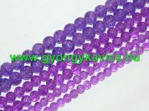 Roppantott Lila Üveg Hegyikristály Másolat Gyöngy Gyöngyfüzér 6mm