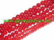 Roppantott Piros Üveg Hegyikristály Másolat Gyöngy 8mm
