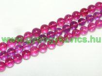 Roppantott Rózsaszín Hegyikristály Ásványgyöngy Gyöngyfüzér 8mm