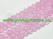 Roppantott Rózsaszín (2-es típus) Üveg Hegyikristály Másolat Gyöngy Gyöngyfüzér 8mm
