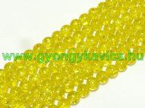 Roppantott Sárga Üveg Hegyikristály Másolat Gyöngy Gyöngyfüzér 8mm