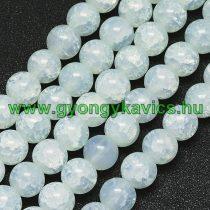 Roppantott Türkiz (2-es típus) Üveg Hegyikristály Másolat Gyöngy Gyöngyfüzér 8mm