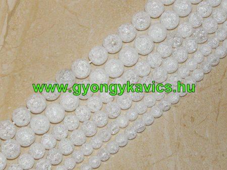 Roppantott Üveg Hegyikristály Másolat Gyöngy Gyöngyfüzér 12mm