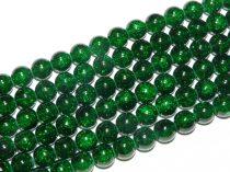 Roppantott Zöld Üveg Hegyikristály Másolat Gyöngy Gyöngyfüzér 8mm
